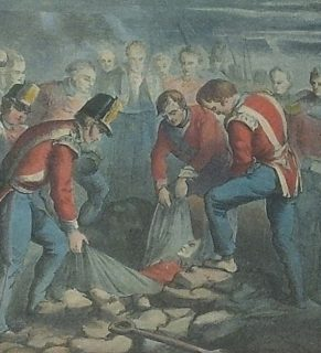 Colborne burial of Moore