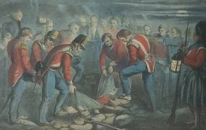 Colborne burial of Moore