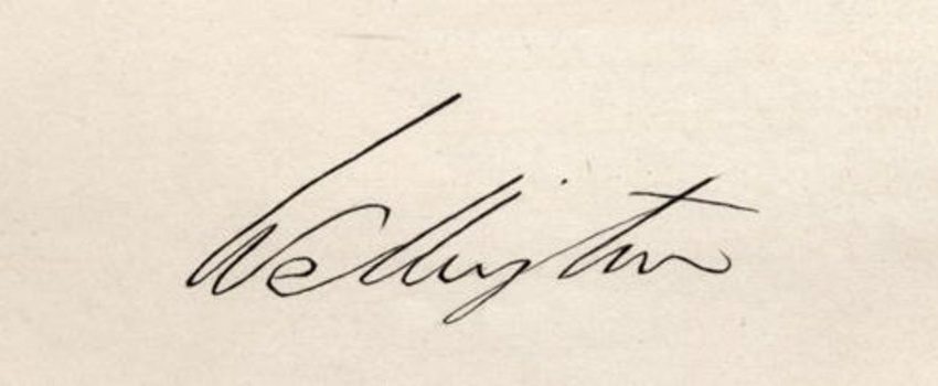 Signature of Arthur Wellesley, 1st Duke of Wellington (1769-1852) (pen and ink on paper)