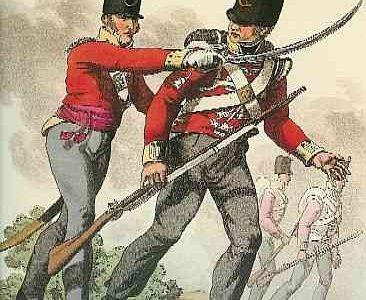 Colborne 52nd Regiment solders