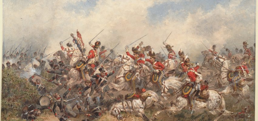 Battle of Waterloo - charge of the union brigade