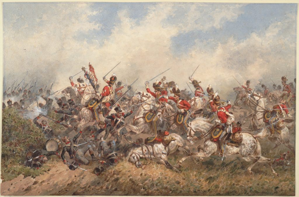 Charge of the British Heavy Cavalry - The Waterloo Assocation